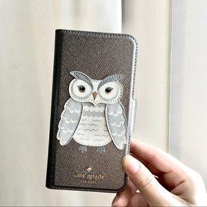 NWOT 1+1 Kate Spade Owl Silver Phone Case